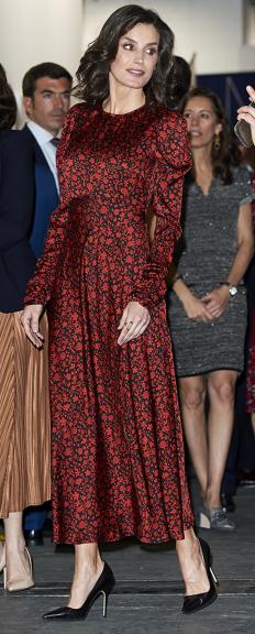 Кралица Летисия Ортис на изложба в Мадрид
