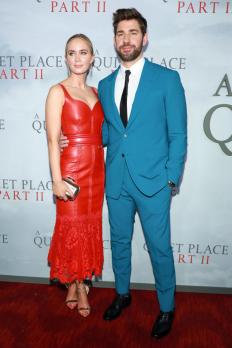 """Емили Блънт и Джон Кразински на премиерата на """"A Quiet Place 2"""""""