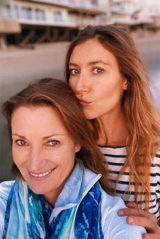 Джейн Сиймур с дъщеря си Катрин Флин