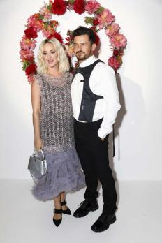 Кейти Пери и Орландо Блум на събитие на Louis Vuitton