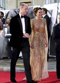 Кейт и Уилям на премиерата на новия филм за Джеймс Бонд