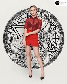 Мария Бакалова в тоалет на Dior