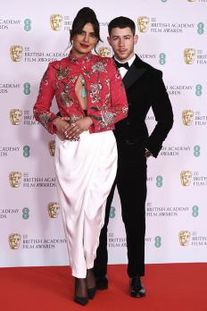Приянка Чопра и Ник Джонас на наградите BAFTA