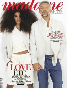 Венсан Касел и Тина Кунаки на корицата на Madame Figaro