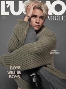 18-годишният Ромео Бекъм с дебютна корица за L'Uomo Vogue