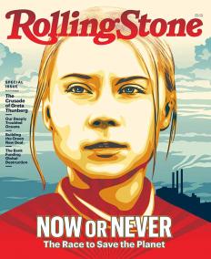 Грета Геруиг на корица на Rolling Stone