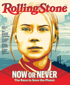 Грета Тунберг на корица на Rolling Stone