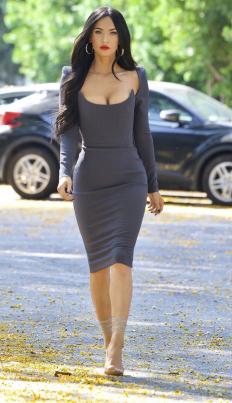 Меган Фокс, облечена в Alex Perry